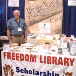 Howard Blitz at the Freedom Library Booth in Bally's at the Freedom Festival 2011 Wide Shot