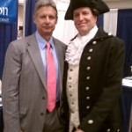 Presidential Candidiate Gary Johnson with Patrick Henry (Michael Oddendino)