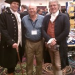 Howard Blitz with Patrick Henry and Thomas Jefferson (Michael Oddendino and Bill Barker)
